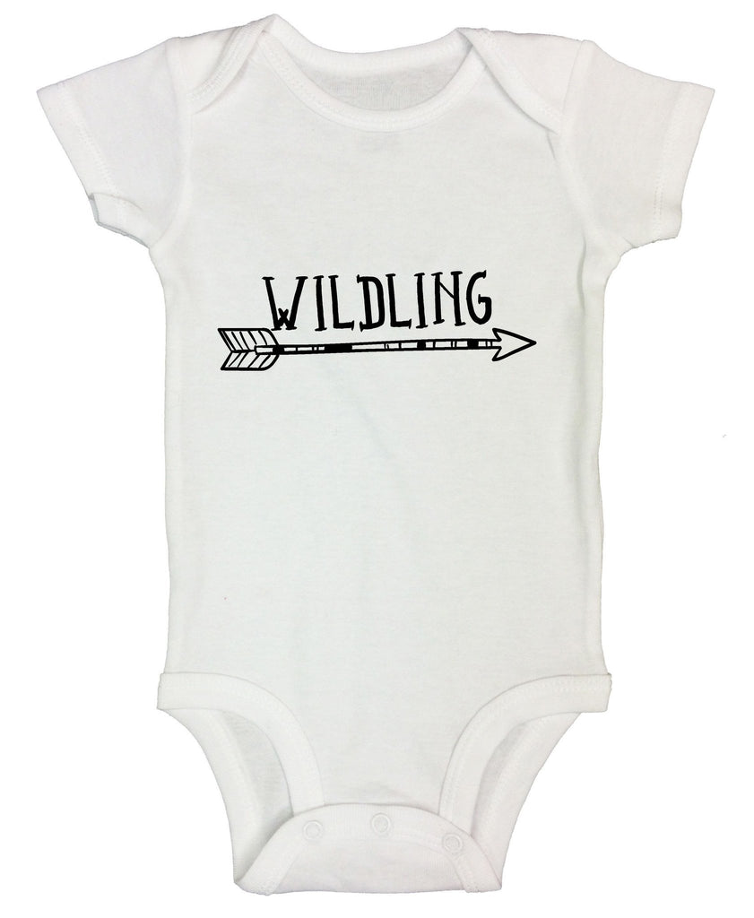 Wildling Funny Kids Onesie Funny Shirt Short Sleeve 0-3 Months