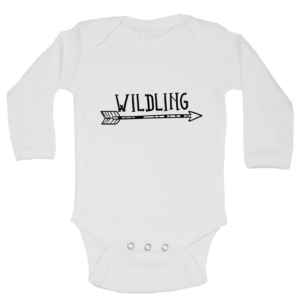 Wildling Funny Kids Onesie Funny Shirt Long Sleeve 0-3 Months