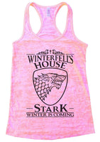 Winterfell's House Stark Winter Is Coming Burnout Tank Top By Funny Threadz Funny Shirt Small / Light Pink