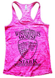 Winterfell's House Stark Winter Is Coming Burnout Tank Top By Funny Threadz Funny Shirt Small / Shocking Pink