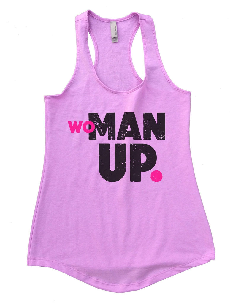 Woman Up Womens Workout Tank Top Funny Shirt Small / Lilac