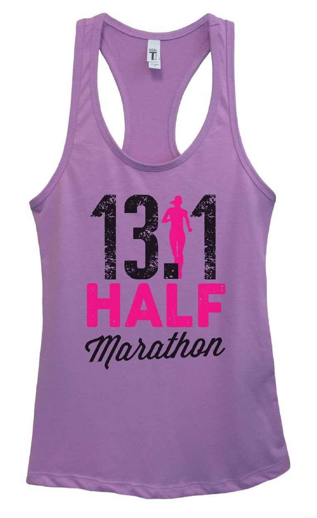 Womens 13.1 Half Marathon Grapahic Design Fitted Tank Top Funny Shirt Small / Lavender
