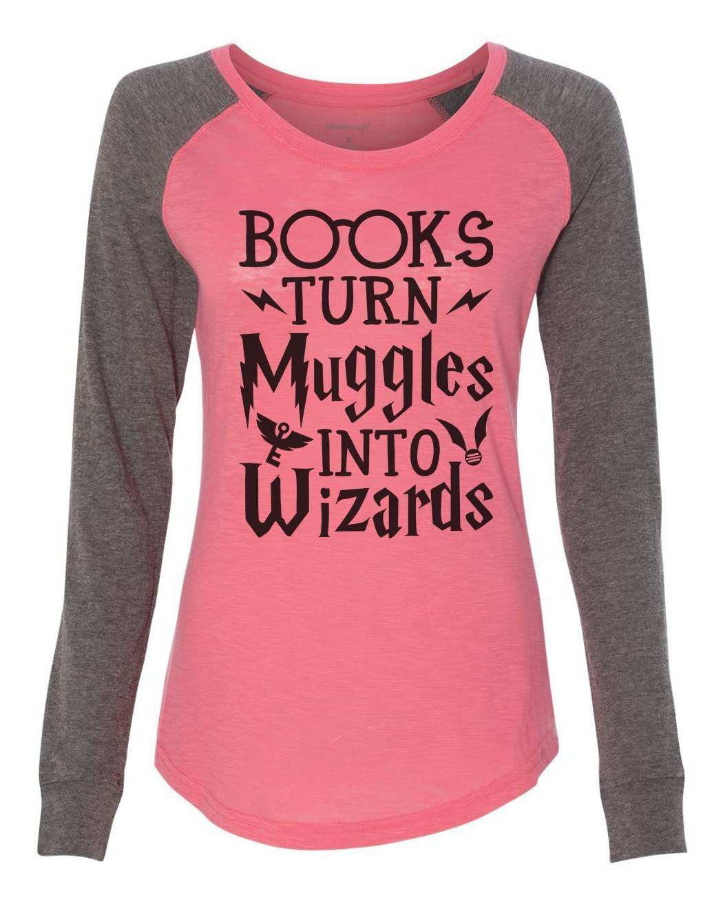 BOOKS TURN MUGGLES INTO WIZARDS HARRY POTTER  FUNNY XMAS BIRTHDAY KIDS HOODIE