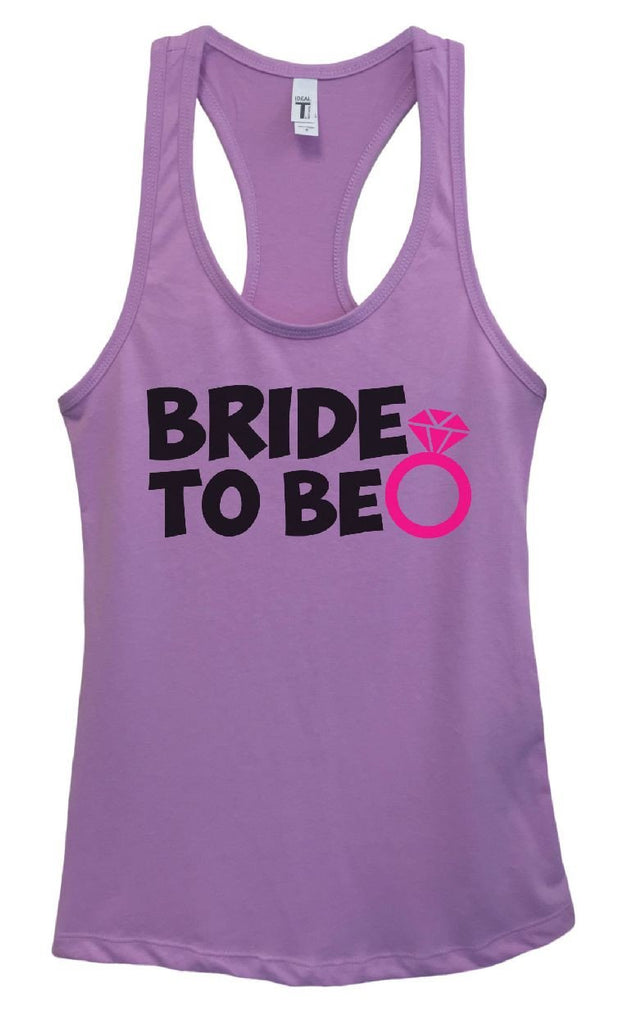 Womens Bride To Be Grapahic Design Fitted Tank Top Funny Shirt Small / Lavender