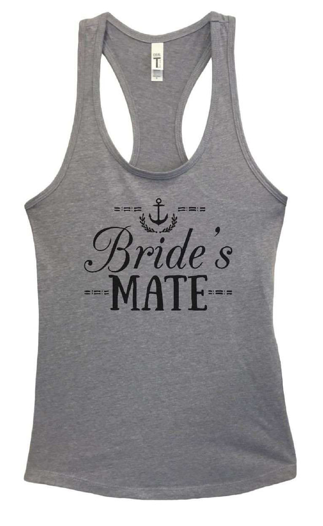 Womens Bride's Mate Grapahic Design Fitted Tank Top Funny Shirt Small / Heather Grey