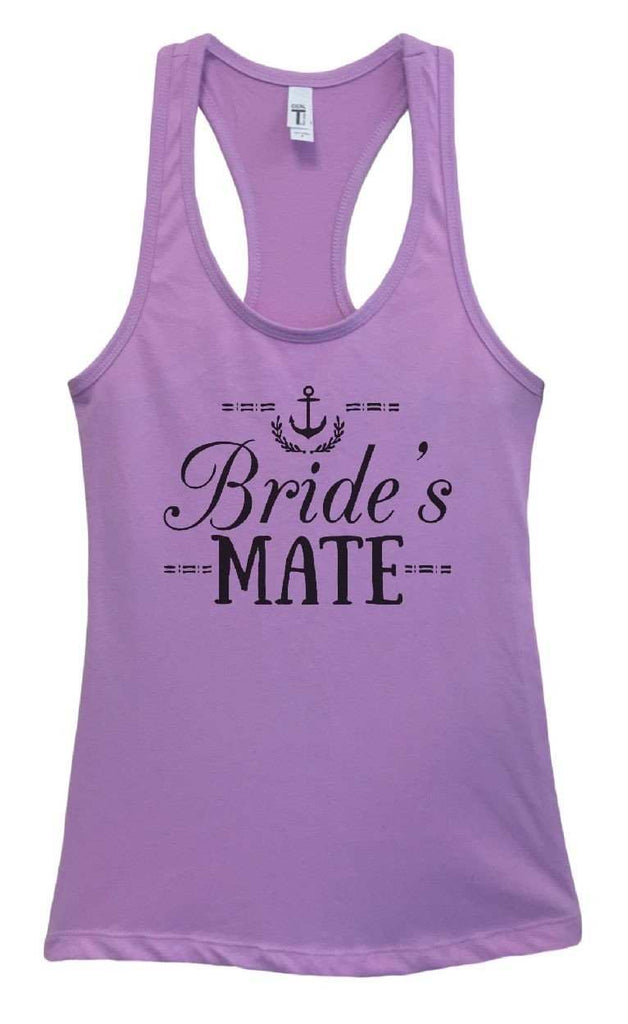 Womens Bride's Mate Grapahic Design Fitted Tank Top Funny Shirt Small / Lavender
