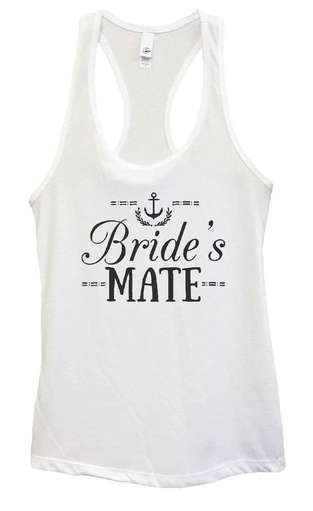 Womens Bride's Mate Grapahic Design Fitted Tank Top Funny Shirt Small / White