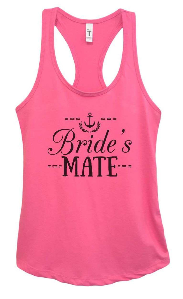 Womens Bride's Mate Grapahic Design Fitted Tank Top Funny Shirt Small / Fuchsia