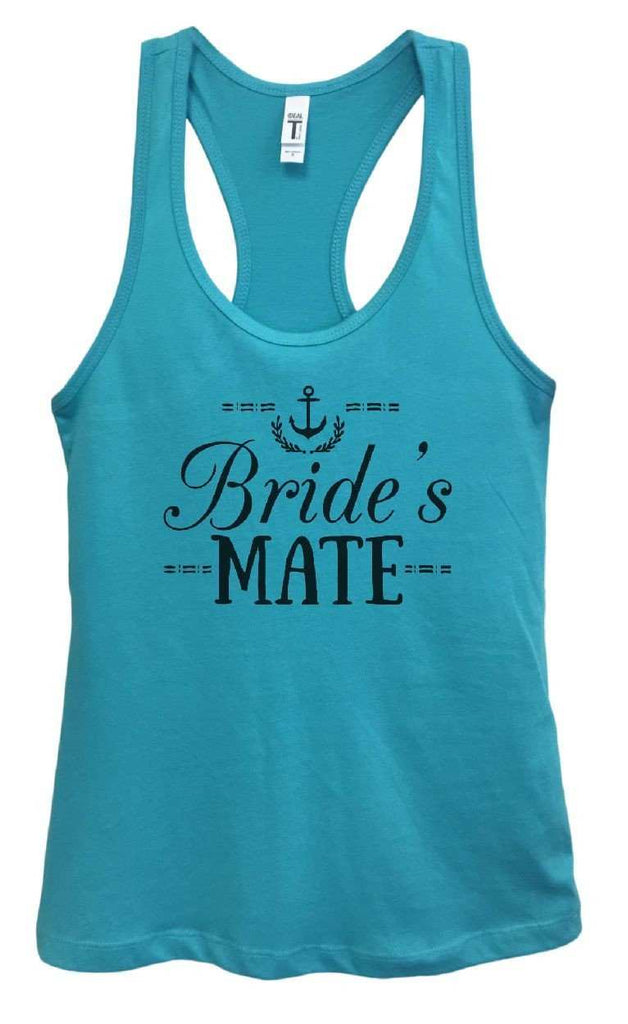 Womens Bride's Mate Grapahic Design Fitted Tank Top Funny Shirt Small / Sky Blue