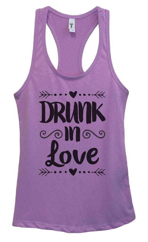 Womens Drunk In Love Grapahic Design Fitted Tank Top Funny Shirt Small / Lavender