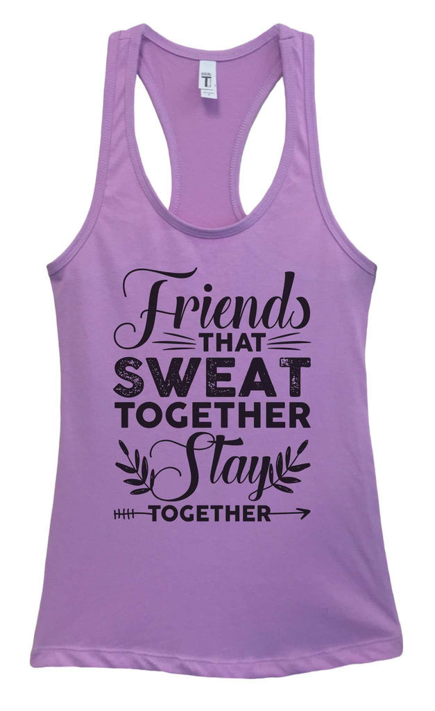 Womens Friends That Sweat Together Stay Together Grapahic Design Fitted Tank Top Funny Shirt Small / Lavender