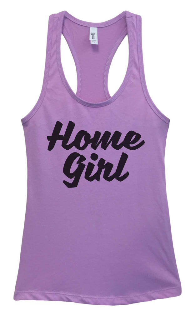 Womens Home Girl Grapahic Design Fitted Tank Top Funny Shirt Small / Lavender