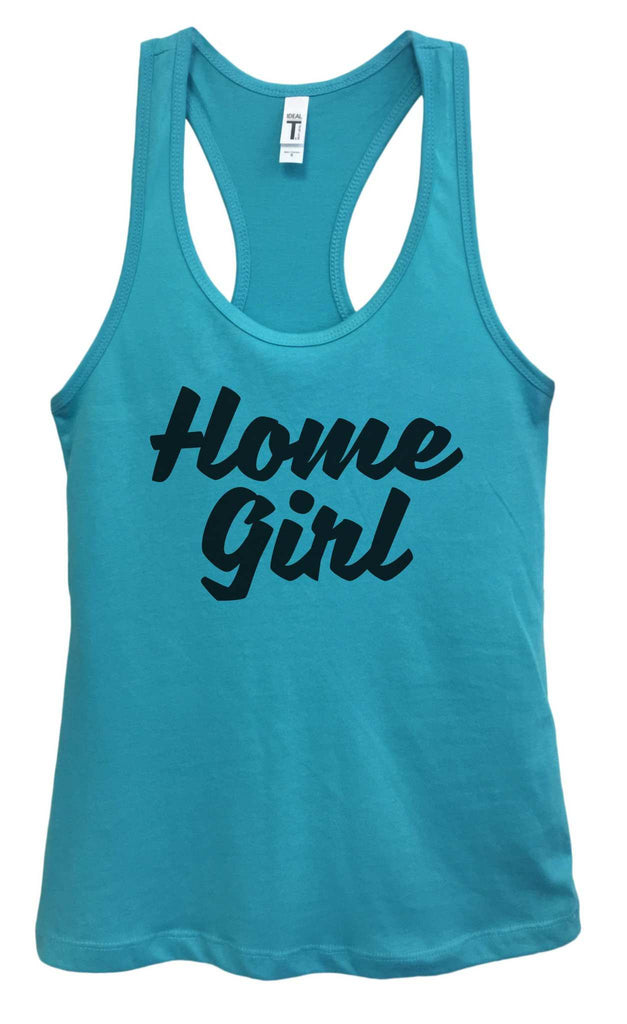Womens Home Girl Grapahic Design Fitted Tank Top Funny Shirt Small / Sky Blue