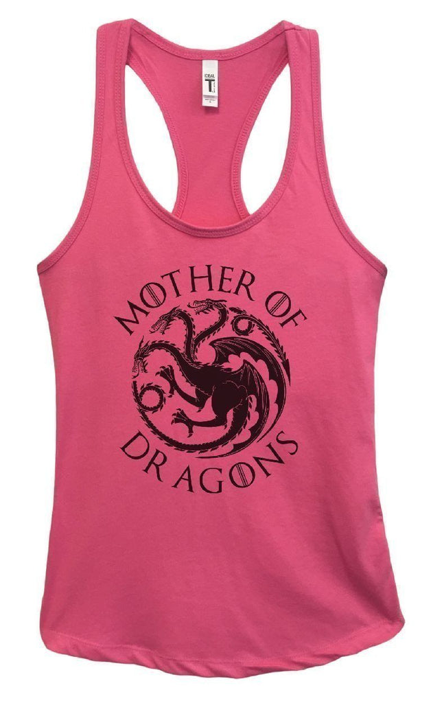 3e6b3ed1e69dc0 ... Womens Mother Of Dragons Grapahic Design Fitted Tank Top Funny Shirt  Small   Fuchsia ...