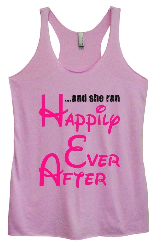 Womens Tri-Blend Tank Top - ...And She Ran Happily Ever After Funny Shirt Small / Vintage Lilac