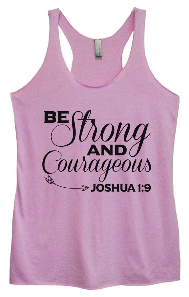 Womens Tri-Blend Tank Top - Be Strong And Courageous JOSHUA 1:9 Funny Shirt Small / Vintage Lilac