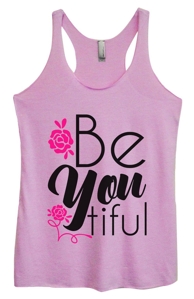 Womens Tri-Blend Tank Top - Be You Tiful Funny Shirt Small / Vintage Lilac
