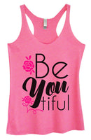 Womens Tri-Blend Tank Top - Be You Tiful Funny Shirt Small / Vintage Pink