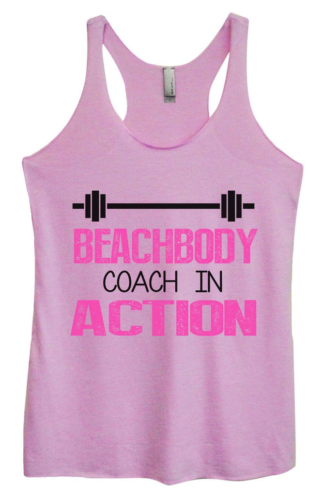 Womens Tri-Blend Tank Top - Beachbody Coach In Action Funny Shirt Small / Vintage Lilac