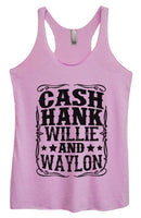 Womens Tri-Blend Tank Top - Cash Hank Willie And Waylon Funny Shirt Small / Vintage Lilac