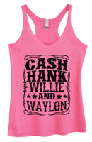 Womens Tri-Blend Tank Top - Cash Hank Willie And Waylon Funny Shirt Small / Vintage Pink