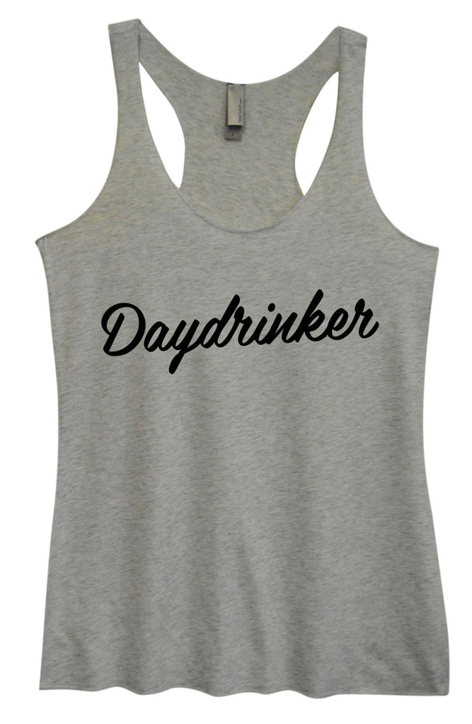 Womens Tri-Blend Tank Top - Daydrinker Funny Shirt Small / Vintage Grey