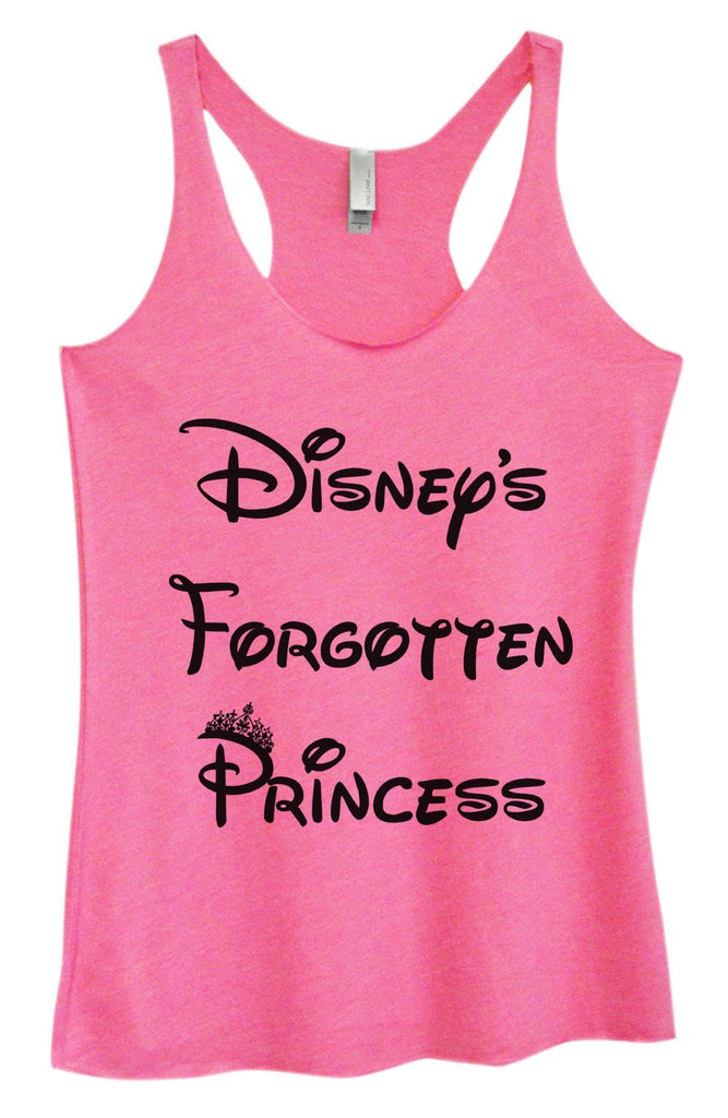 Womens Tri-Blend Tank Top - Disney's Forgotten Princess Funny Shirt Small / Vintage Pink