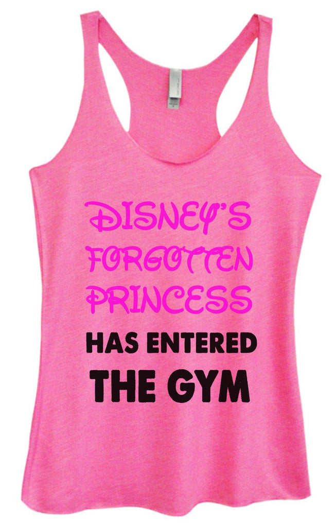 Womens Tri-Blend Tank Top - Disney's Forgotten Princess Has Entered The Gym Funny Shirt Small / Vintage Pink