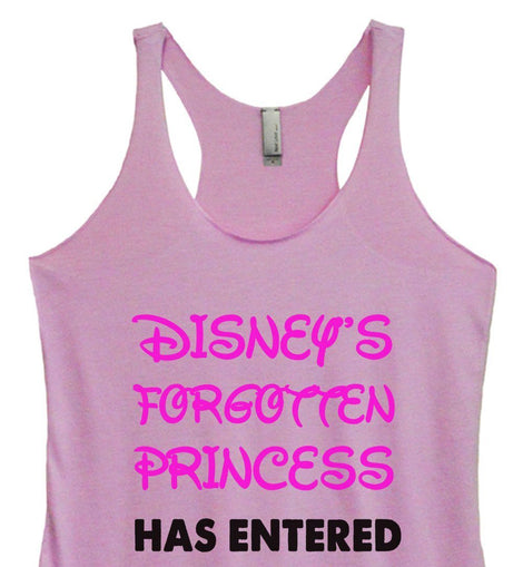 Womens Tri-Blend Tank Top - Disney's Forgotten Princess Has Entered The Gym Funny Shirt Small / Vintage Lilac