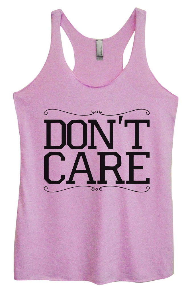 Womens Tri-Blend Tank Top - Don't Care Funny Shirt Small / Vintage Lilac