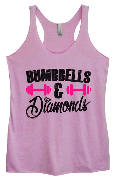 Womens Tri-Blend Tank Top - Dumbbells & Diamonds Funny Shirt Small / Vintage Lilac