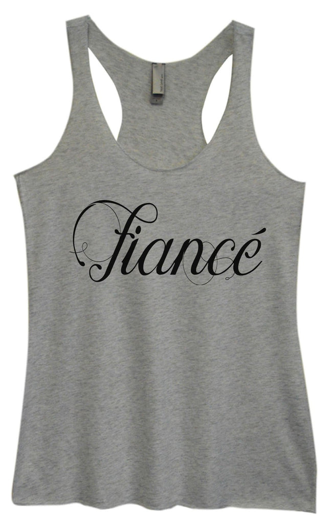 Womens Tri-Blend Tank Top - Fiance Funny Shirt Small / Vintage Grey
