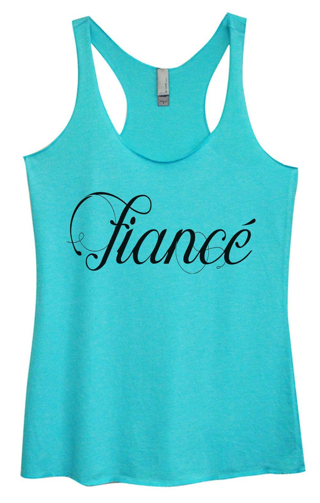 Womens Tri-Blend Tank Top - Fiance Funny Shirt Small / Vintage Blue