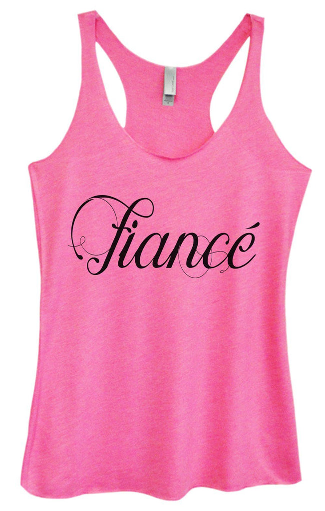 Womens Tri-Blend Tank Top - Fiance Funny Shirt Small / Vintage Pink