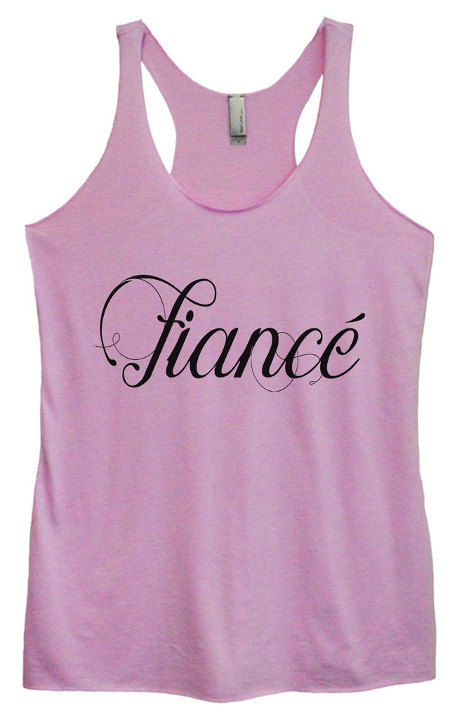 Womens Tri-Blend Tank Top - Fiance Funny Shirt Small / Vintage Lilac
