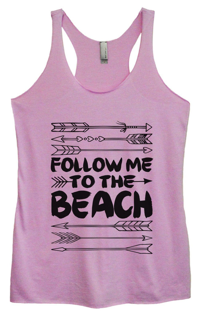Womens Tri-Blend Tank Top - Follow Me To The Beach Funny Shirt Small / Vintage Lilac