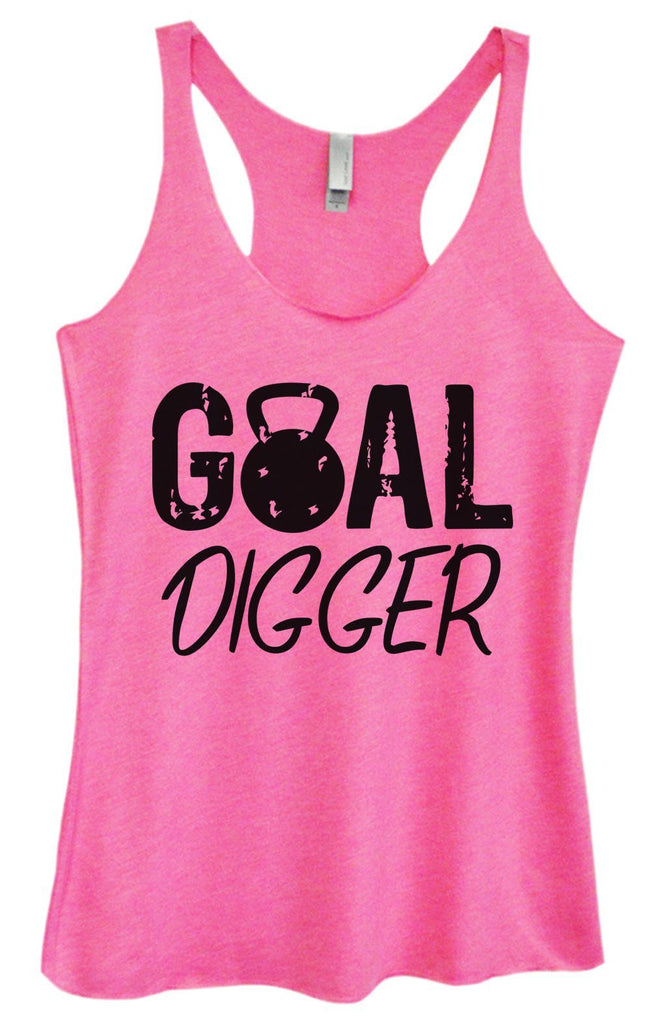 Womens Tri-Blend Tank Top - Goal Digger Funny Shirt Small / Vintage Pink