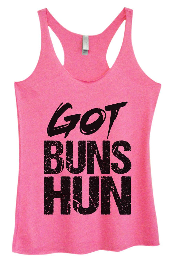 Womens Tri-Blend Tank Top - Got Buns Hun Funny Shirt Small / Vintage Pink