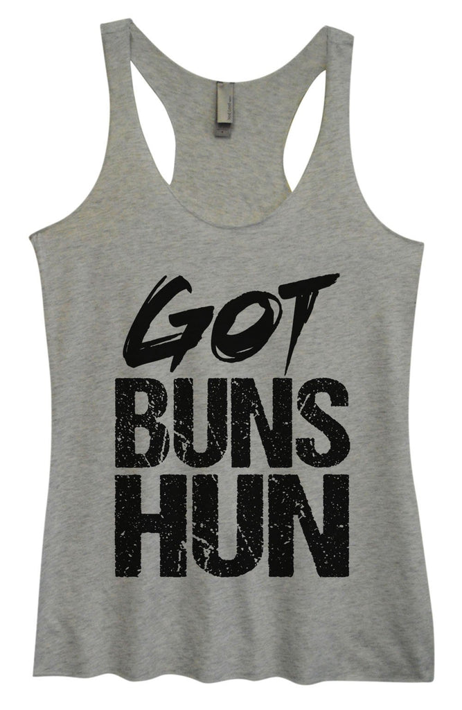 Womens Tri-Blend Tank Top - Got Buns Hun Funny Shirt Small / Vintage Grey