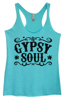 Womens Tri-Blend Tank Top - Gypsy Soul Funny Shirt Small / Vintage Blue