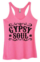 Womens Tri-Blend Tank Top - Gypsy Soul Funny Shirt Small / Vintage Pink