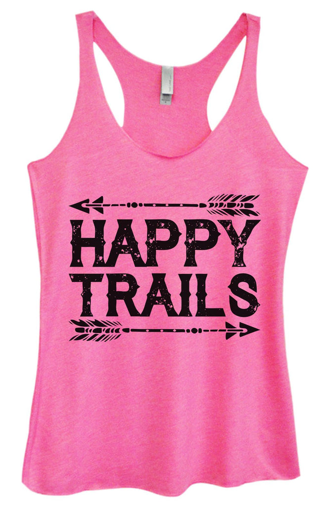 Womens Tri-Blend Tank Top - Happy Trails Funny Shirt Small / Vintage Pink