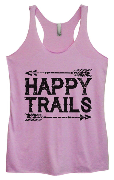 Womens Tri-Blend Tank Top - Happy Trails Funny Shirt Small / Vintage Lilac