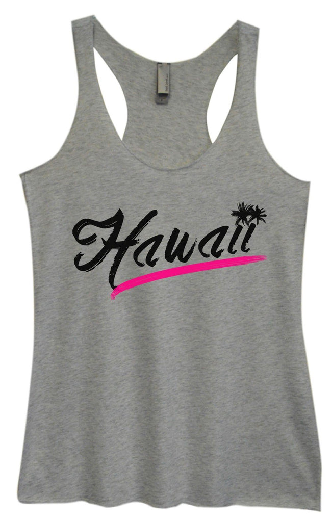 Womens Tri-Blend Tank Top - Hawaii Funny Shirt Small / Vintage Grey