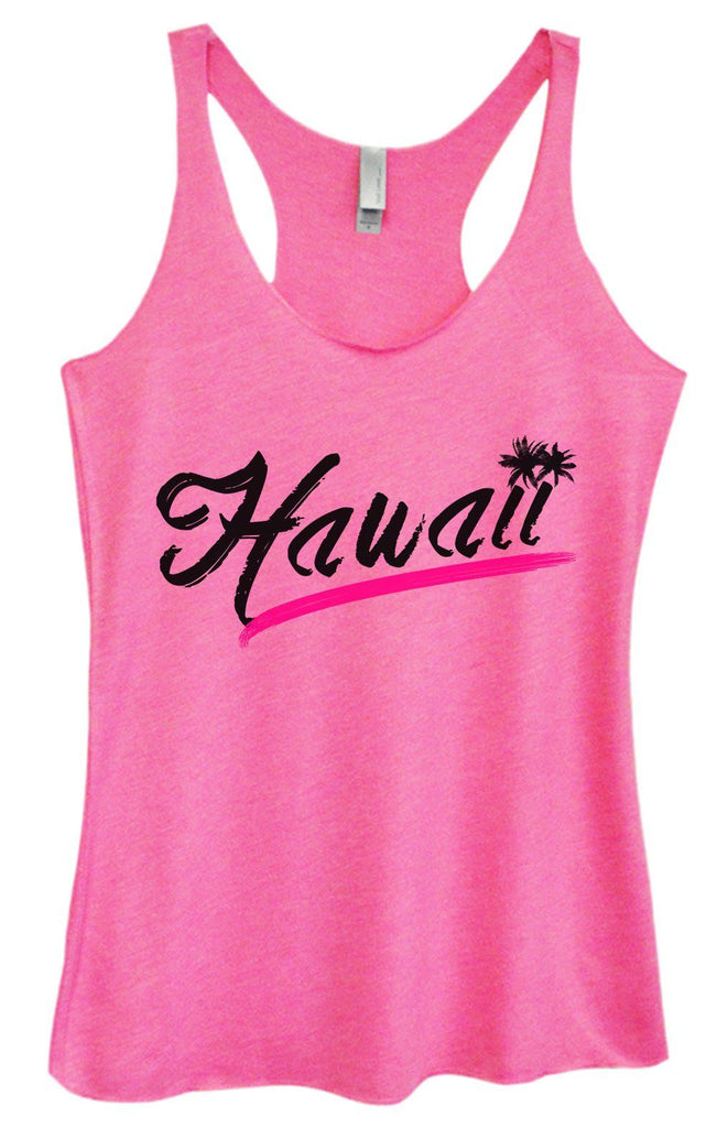 Womens Tri-Blend Tank Top - Hawaii Funny Shirt Small / Vintage Pink