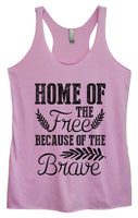 Womens Tri-Blend Tank Top - Home Of The Free Because Of The Brave Funny Shirt Small / Vintage Lilac