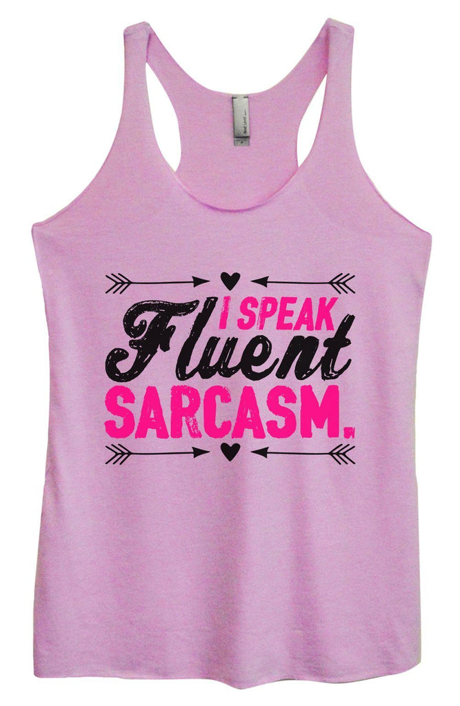 Womens Tri-Blend Tank Top - I Speak Fluent Sarcasm. Funny Shirt Small / Vintage Lilac