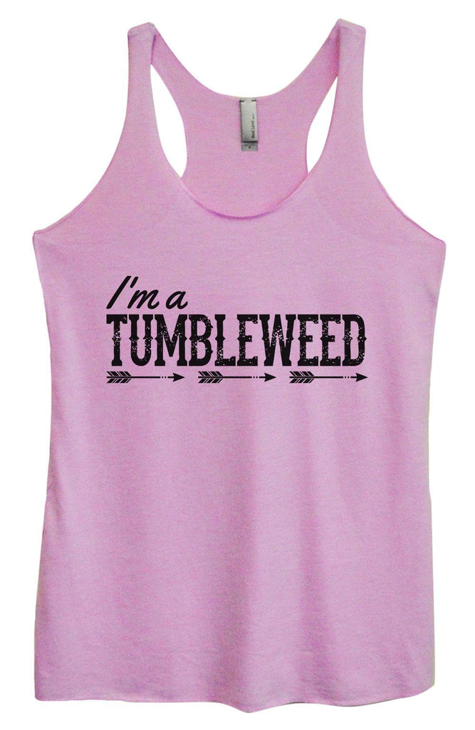 Womens Tri-Blend Tank Top - I'm A Tumbleweed Funny Shirt Small / Vintage Lilac