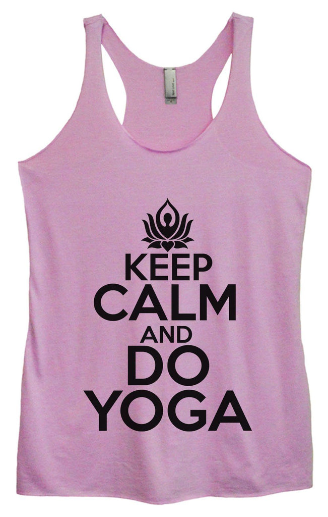 Womens Tri-Blend Tank Top - Keep Calm And Do Yoga Funny Shirt Small / Vintage Lilac
