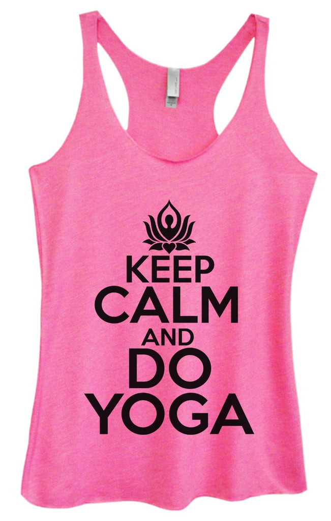 Womens Tri-Blend Tank Top - Keep Calm And Do Yoga Funny Shirt Small / Vintage Pink